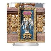 Wat Chedi Mae Krua Wihan Veranda Rail Decorations Dthcm1847 Shower Curtain