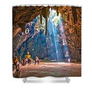 Wat Khao Luang Shower Curtain