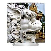 Wat Krom 29 Shower Curtain