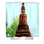 Wat Krom 32 Shower Curtain