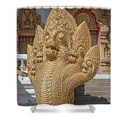 Wat Kumpa Pradit Phra Wihan Five-headed Naga Dthcm1664 Shower Curtain
