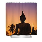 Wat Mahathat Shower Curtain