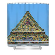 Wat Ratcha Orasaram Phra Wihan Gable Dthb0862 Shower Curtain