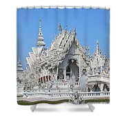 Wat Rong Khun Ubosot Dthcr0004 Shower Curtain