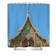 Wat Suan Prig Phra Wihan Gable Dthcm2391 Shower Curtain
