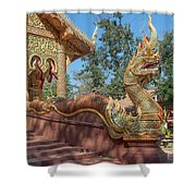 Wat Suan Prig Phra Wihan Makara And Naga Guardian Dthcm2395 Shower Curtain