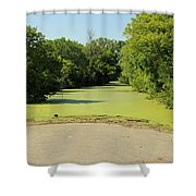 Watch For Water On Road Shower Curtain