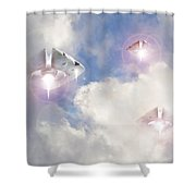 Watch The Sky Shower Curtain