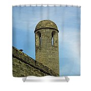 Watch Tower On The Castillo Shower Curtain