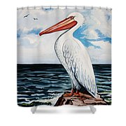 Watcher Of The Sea Shower Curtain