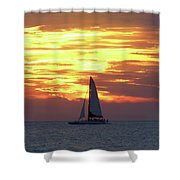 Watching Fire In The Sky Shower Curtain