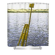 Watching From Number 2 Shower Curtain by Charles Harden