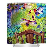 Watching The Bug Byway By Way Of Back Porch Shower Curtain