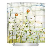 Watching The Clouds Go By No 2 Shower Curtain by Jennifer Lommers
