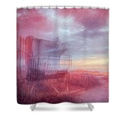 Watching The Day Begin In Watercolors Shower Curtain