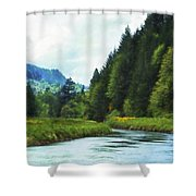 Watching The Days Go By Shower Curtain