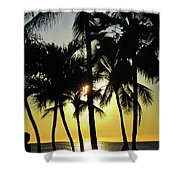 Watching The Hawaiian Sunset  Shower Curtain
