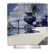 Watchtower Beach Shower Curtain
