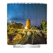 Watchtower Over The Grand Canyon   Arizona Shower Curtain