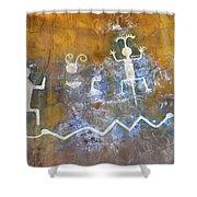 Watchtower Rock Art  Shower Curtain