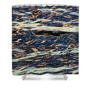 Water Abstract 3 24 15 Shower Curtain