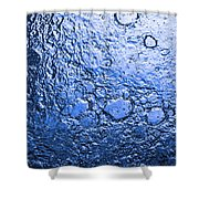 Water Abstraction - Blue Rain Shower Curtain