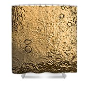 Water Abstraction - Liquid Gold Shower Curtain