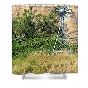 Water Aerating Windmill For Ponds And Lakes Shower Curtain