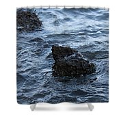 Water And A Rock Shower Curtain