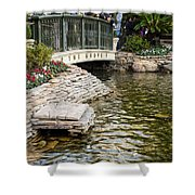 Water And Flower Shower Curtain