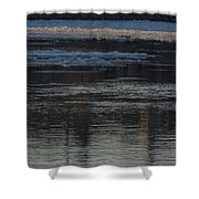Water And The Ice - Icy River Danube Shower Curtain