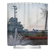 Water And Metal Shower Curtain
