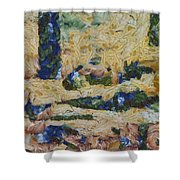 Water And River Delta  Shower Curtain