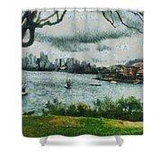 Water And Scenery Shower Curtain