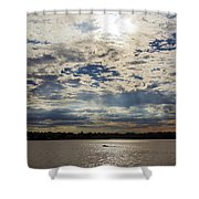 Water And Sky Shower Curtain