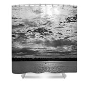Water And Sky - Bw Shower Curtain