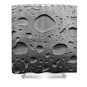 Water And Steel Shower Curtain