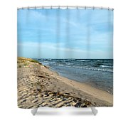 Water And The Beach Shower Curtain