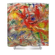 Water And Wax Shower Curtain