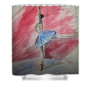 Water Ballerina Shower Curtain