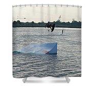 Water Boarding Shower Curtain
