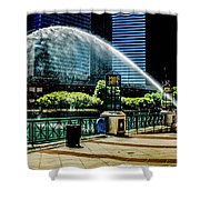 Water Canon In Color Shower Curtain