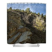 Water Canyon Sky View Shower Curtain