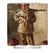 Water Carrier Shower Curtain