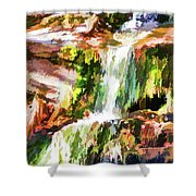 Water Cascading Shower Curtain