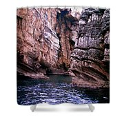 Water Caves - Italy Shower Curtain
