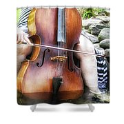 Water Cello  Shower Curtain