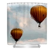 Water Color Balloons Shower Curtain