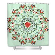 Water Color Garden Kaleidoscope Shower Curtain