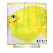Water Color Of Fish Shower Curtain